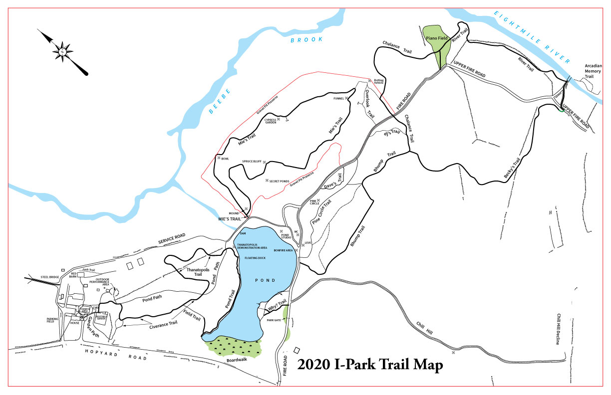 I-Park Trails Map